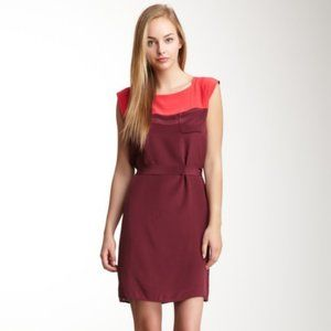 French Connection T-Sarah Block Silk Dress